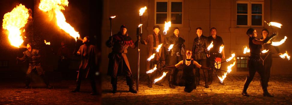 Spektakuläre Feuershows...